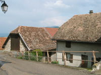 Picture : Typical roofs of the village