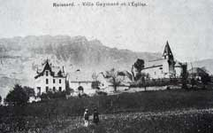 Picture : Villa Gaymard and the church