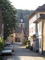 Picture : The main road of the village